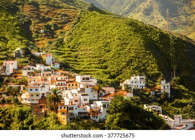 Landscape view on Taganana village in northeastern part of Tenerife island, Spain