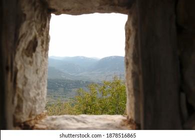 landscape view from osios loukas monastery, Distomo, Greece - Shutterstock ID 1878516865