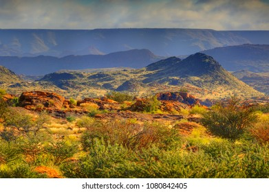 LANDSCAPE VIEW over the Orange River vallet at Augrabies National Desert Park, Northern Cape, South Africa.