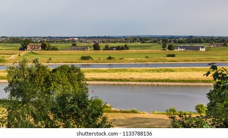 Landscape with a view over the Rhine near Arnhem in the Netherlands