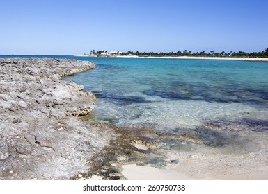 The landscape view of Paradise Island (The Bahamas).