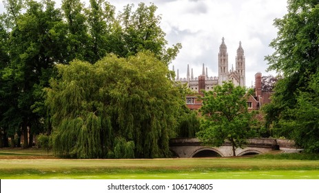 Landscape view in the park, Cambridge, England