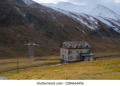 landscape view at passo dello stelvio Italy.