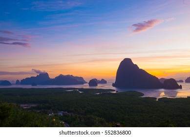 Landscape view in Phang Nga province in Thailand.