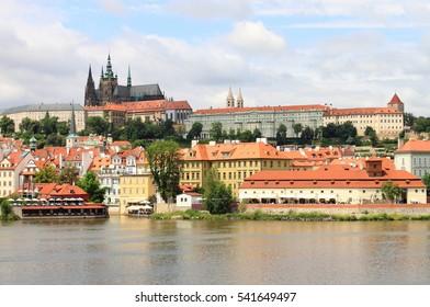 Landscape view of Prague Castle, Czech Republic