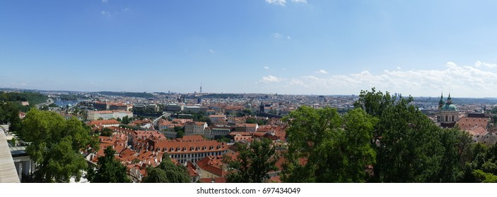 Landscape view from Prague-Czech Republic