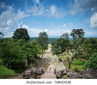 landscape view from preah vihear mountain temple in north cambodia