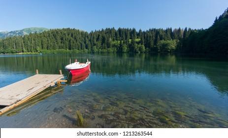 Landscape view of Savsat Karagol lake and Nature Park in Blacksea region, Artvin, Turkey