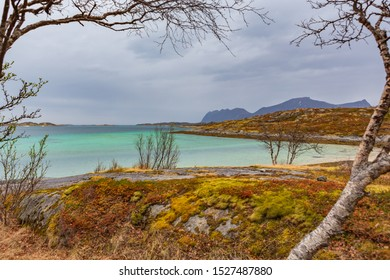 The landscape view of Senja Island beyond the Polar Circle in Norway