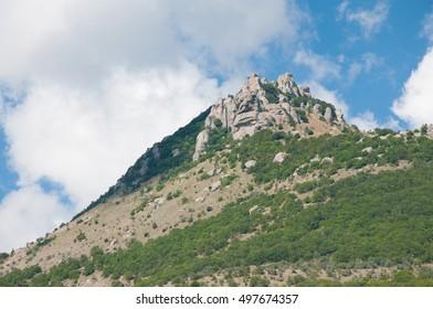 Landscape view of South Demerdgy mountain, Crimea, Russian Federation