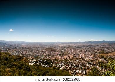 Landscape View of Tegucigalpa Honduras