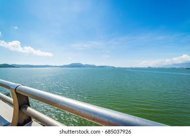 Landscape view from Thi Nai bridge in Qui Nhon Vietnam
