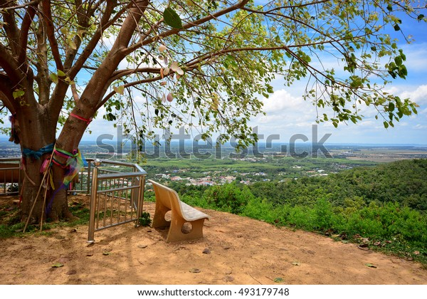 Landscape view from top of mountain, Hatyai City. Songkhla, Thailand