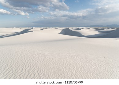 Landscape view of White Sands National Monument in Alamogordo, New Mexico during summer.
