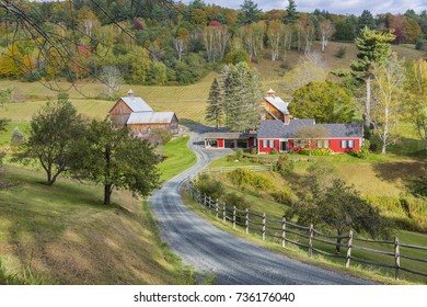 Landscape view at Woodstock, Vermont, USA