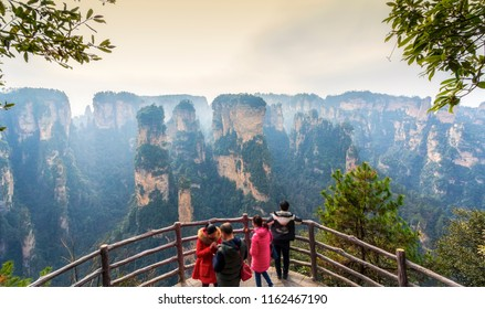 Landscape view of Zhangjiajie located in Wulingyuan scenic area Hunan province China is a famous national park