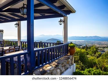 Landscape view from Zia village, Kos island, Greece