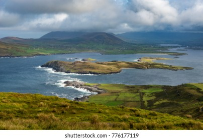 Landscape viewpoint from Valentia island in Ireland