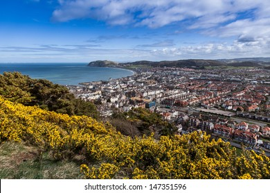 Landscape Views from the Great Orme Llandudno North Wales Uk