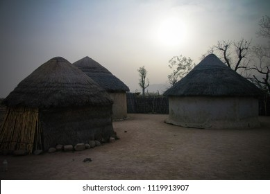 Landscape of the Village of Mbororo aka fulani tribe at Tchamba, Cameroon