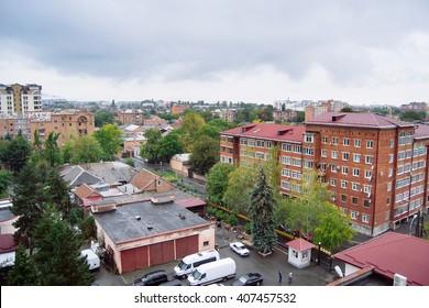 landscape of Vladikavkaz city  in  North Ossetia - Alania, Russia