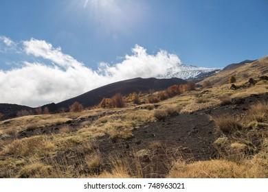 Landscape of Volcano Etna, Catania - Sicily