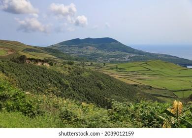 Landscape with volcano, Graciosa island, Azores
