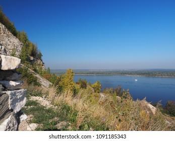 Landscape of the Volga river and Zigulevskie hills