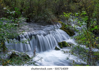 Landscape with waterfall, long exposure
