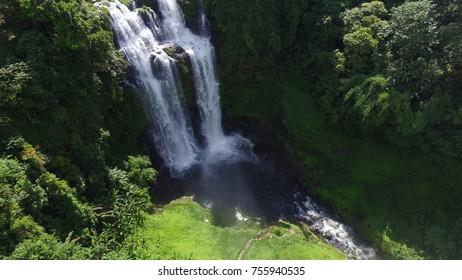 landscape waterfall. waterfall southern of Laos