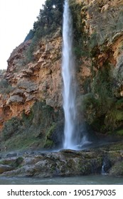 Landscape of waterfall in Valencia, Spain