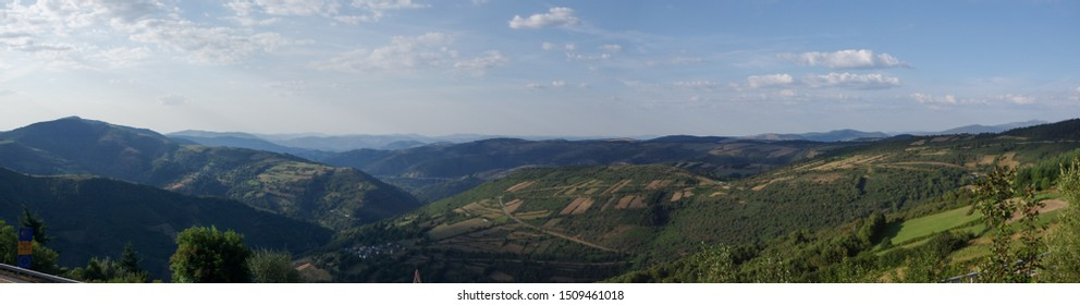 Landscape from Way of Santiago Galicia Spain