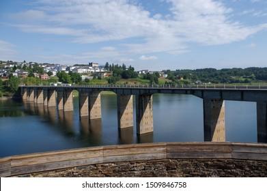 Landscape from Way of Santiago Galicia Spain Portomarin