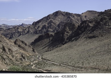 Landscape with weathered mountains from Southern Utah