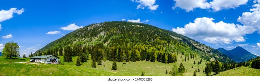 landscape at the wendelstein mountain - bavaria - bayrisch zell