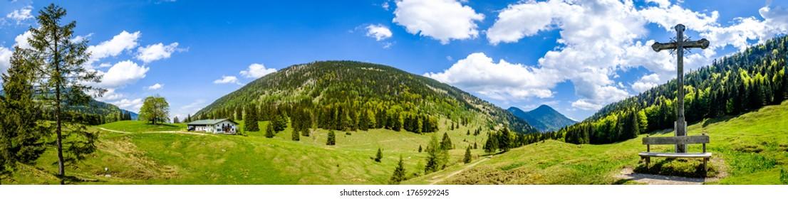 paysage de la montagne du wendelstein - bavarie - zell de bayrisch