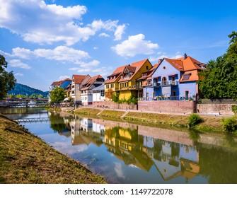 Landscape  of Wertheim am Main, Germany.
