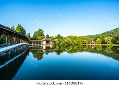 landscape of west lake in hangzhou china