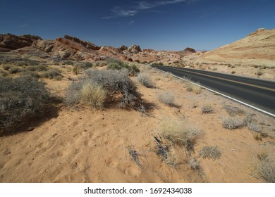Landscape while driving through Valley of Fire, Nevada