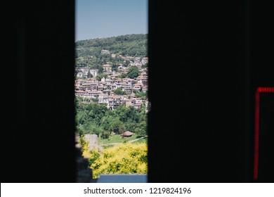 landscape from a window