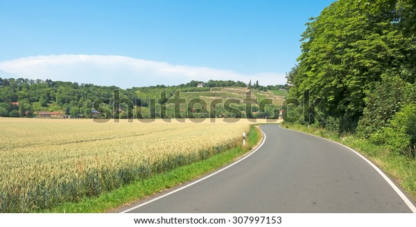 Landscape in the wine area Saale-Unstrut in Germany