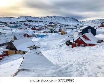 Landscape winter, Europe Qaqortoq Greenland