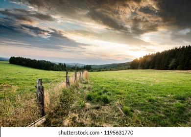Landscape in Winterberg Germany