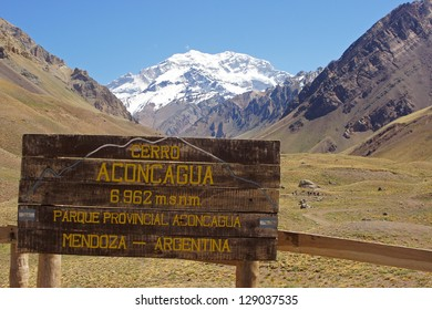 Landscape within the Aconcagua National Park, Andes Mountains, Argentina