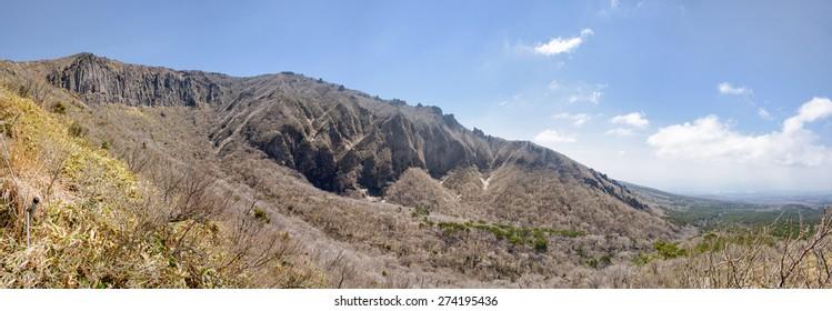 Landscape of Yeongsil Trail course to Baerokdam in Hallasan Mountain National Park in Jeju Island, Korea.