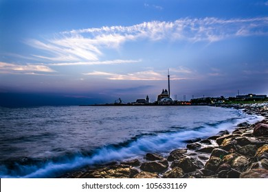 Landscape at YouCheKou, Tamsui District, New Taipei City, Taiwan.