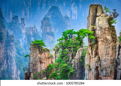Landscape of Zhangjiajie. Located in Wulingyuan Scenic and Historic Interest Area, Hunan, china.