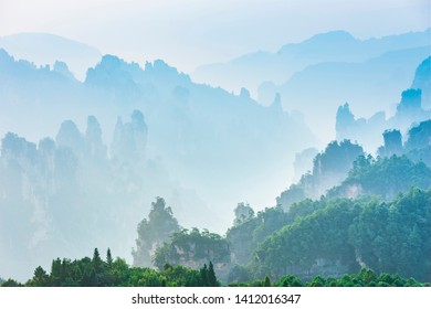 Landscape of Zhangjiajie. Located in Wulingyuan Scenic and Historic Interest Area which was designated a UNESCO World Heritage Site as well as AAAAA scenic area in china.