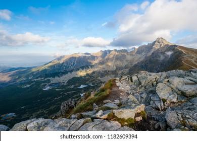 Landscape of Zielona Dolina Gasiencowa in the Tatra Mountain, Poland