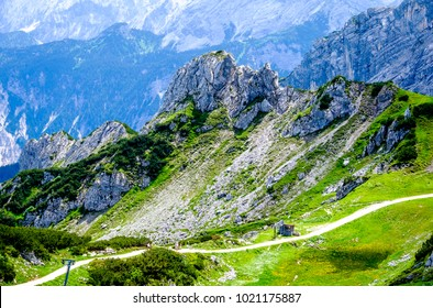 landscape at the zugspitze mountain